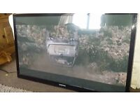 55 inch samsung 3d tv plus 6 galsses and wall bracket..