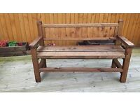 New Hand made garden Bench