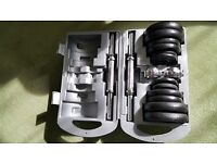 York Fitness 20kg dumbell set