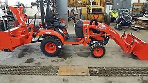 2018 Kubota BX2380 w/ front loader and rear snowblower