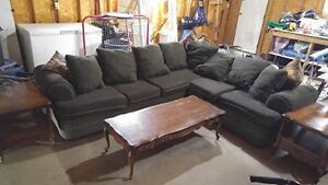 Hide-a-bed sectional couch is in good used condition. $300