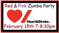 Red & Pink Zumba Party for Heart & Stroke Foundation