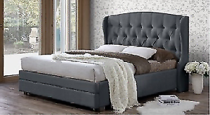 Brand New Harper Queen/King Bed Frame with Foot Draw(3 Colours)