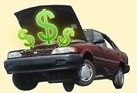 $$$$ for scrap and unwanted vehicles 125$ to 350$. 613-360-3692