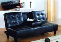 BEST DEAL-QUALITY SOFA BED FUTON W/ CUP TRAY! WE DELIVER!!!