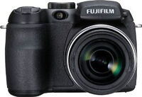 fujifilm camera with strap and lens cover