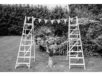 White painted ladders - Perfect for vintage wedding