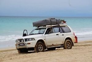 Mitsubishi Challenger camper 4wd roof top tent fridge backpacker Byron Bay Byron Area Preview