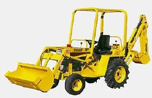 Wanted older mini tractor/backhoe