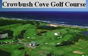 Walk across the road to golfing at Crowbush