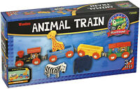 Wooden Animal Train Set - NEW