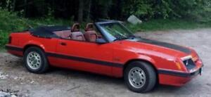 1986 Mustang GT convertible, 5.0 V8, 5 speed manual REDUCED