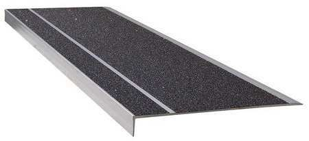 Wooster 311Bla4 Stair Tread,Black,48In W,Extruded Alum