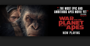 War of the Planet of the Apes. 2 GOLD CLASS tickets Saturday pm Joondanna Stirling Area Preview