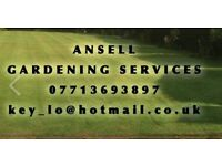 Ansell Gardening Services *Hedge Trimming / Lawn Care / Clearance / Patio Bleaching Specialist*