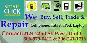 Buy, Sell, Trade and Repair Cell phone, Tablet, Laptop, ipod