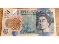 1st edition £5 note