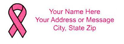 30 Pink Ribbon Return/Mailing Address labels  1