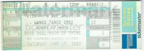 Wango Tango June 15 2002 Concert Ticket Rose Bowl Pasadena No Doubt Celine Dion