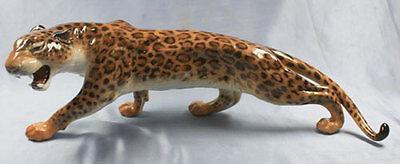 Leopard  Hutschenreuther figur porzellan porzellanfigur panther gepard 1965