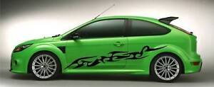 Tribal Flames Huge Decals Sticker Car Free Postage