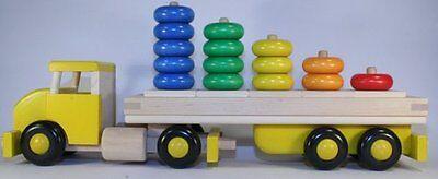 LKW gelb BAJO Holzauto Auto Holzspielzeug Greifling