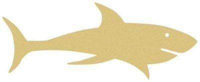 Wood Shark Shape, Unfinished Shape, MDF Wood Cutout, Wooden Paintable Craft](Shark Craft)