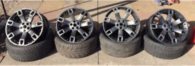 "22"" inch SET of 4 Range rover alloy wheels with tyres"