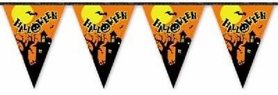 12' Halloween Bunting Haunted House 12ft 11 Pennants flags Party Decoration