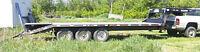Gooseneck 24' beavertail & ramps, 3x7000 axles, Norbert like new