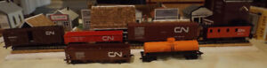 HO Scale Engines, Cars, buildings & landscaping