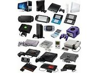 looking for retro games and consoles computers , spairs or working