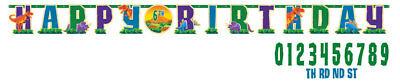 Happy Birthday Banner Dinosaurier NEU - Partyartikel Dekoration Karneval Faschin