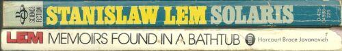 Lot of 2 Paperback Book - STANISLAW LEM - Solaris - Memoirs Found in a Bathtub