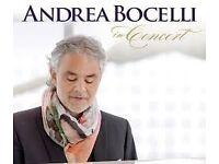 ANDREA BOCELLI LIVE @ THE O2