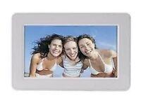 "Matsui 7"" white digital photo frame, unused, boxed"