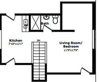 Upper Floor Bachelor Apartment All Inclusive Avail Aug 1st