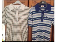 2x original penguin polo tops size=small