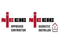 Electrician £30/h, EPC £30, Gas Safety Cert £50, EICR £80, Commercial EICR £120, Any Building Works