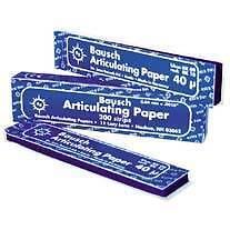 Bausch Articulating paper 200 strips x2 per Box 40 micron Blue