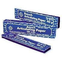 Bausch Articulating paper 200 strips x2 per Box 40 micron Blue Rosebery Inner Sydney Preview