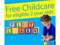 FREE 15 HOURS CARE FOR TWO YEAR OLDS WITH FREE PICK UP AND DROP OFF (MON TO FRI 9.30AM-2.30PM)