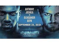 Anthony Joshua VS Oleksandr Usyk x 4 Tickets (512/21)