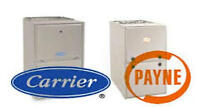 furnace replacement $2295-garage heater $1950-ac $2595-duct work