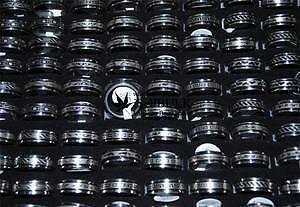 Stainless Steel Spinner Rings- various sizes, $10.00 each!