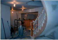 DRYWALL INSTALL /TAPE /TEXTURED CEILING & PAINTING