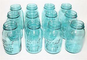 Quart Blue Mason Jars