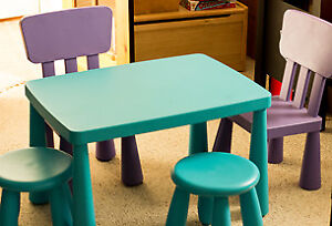 IKEA Children's Table w  2 Chairs and 2 Stools, Indoor/Outdoor