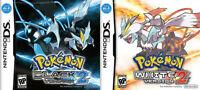 Pokemon Black/White et Black2/White (Anglais)