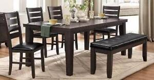 6Pc Dinig Set with Butterfly Leaf in a Gray with Brown Undertone Finish Starting Bid: $928.00 Regular Retail $2149